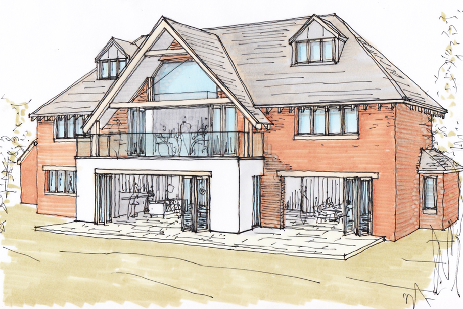 Planning permission granted for new build home ben for New way of building houses